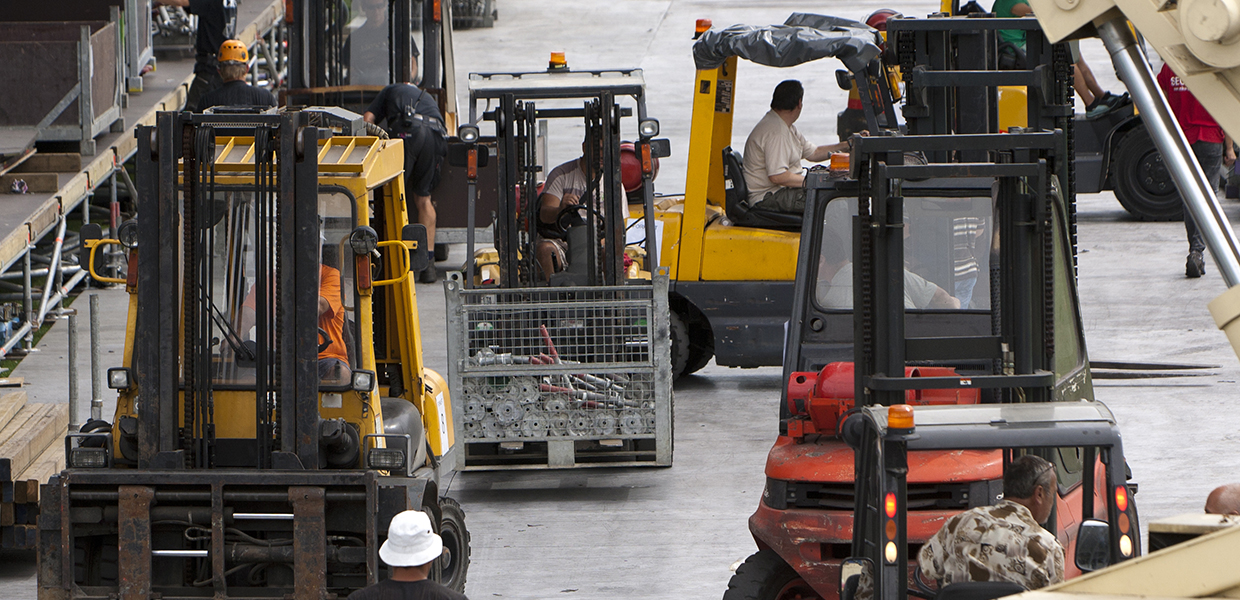 Forklifts finding their way